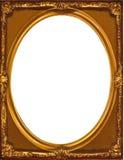 Ovale intérieur de cadre multicouche d'or dans un cadre rectangulaire Photo libre de droits