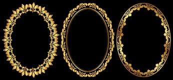 Ovale kaders Royalty-vrije Stock Afbeeldingen