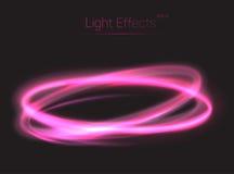 Ovale Lichteffekte kreuzend, extrahieren Sie Hintergrund lizenzfreie abbildung