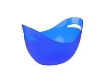 Ovale plastic die emmer op Witte Achtergrond, het 3D teruggeven wordt geïsoleerd Royalty-vrije Stock Afbeeldingen