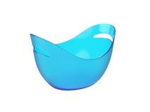 Ovale plastic die emmer op Witte Achtergrond, het 3D teruggeven wordt geïsoleerd Royalty-vrije Stock Foto's
