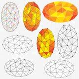 Ovale Polygonzusammenfassungen Lizenzfreie Stockfotos