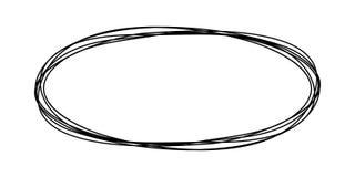 Ovale rotondo Grungy dello scarabocchio royalty illustrazione gratis