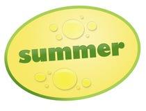 De zomer van de sticker Stock Afbeelding