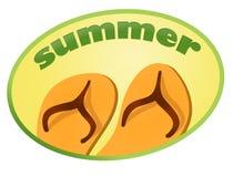 De zomer van de sticker Royalty-vrije Stock Afbeeldingen