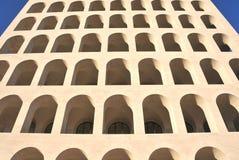 Ovale vensters op het fragment van de bouw Stock Fotografie