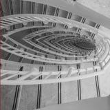 Ovale vormtrap Royalty-vrije Stock Fotografie