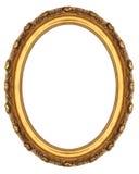 Ovaler Bilderrahmen Stockbild