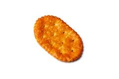 Ovaler Cracker über Weiß Stockfoto
