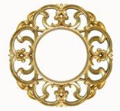 Ovaler Goldbilderrahmen Lizenzfreies Stockbild