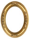 Ovaler Goldbilderrahmen Lizenzfreies Stockfoto