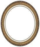 Ovaler Goldbilderrahmen Lizenzfreie Stockfotos