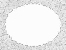 Ovaler Rahmen von Blättern Lizenzfreies Stockfoto