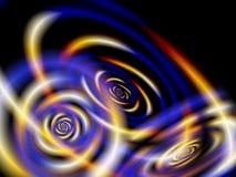 Ovales colorés par fractale Photographie stock
