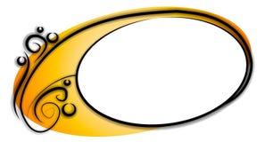 Ovales dekoratives Webseiten-Zeichen stock abbildung