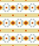Ovales Krautblumenrahmen-Vektorbild Herrliches Muster für Design und Textilverzierung Weinlese, Altmode, Landhausstil Stockfotos