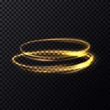 Ovales parallèles de miroitement de particules lumineuses du feu illustration de vecteur