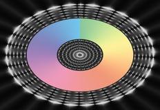 Ovales Regenbogen-Ineinander greifen Lizenzfreies Stockfoto