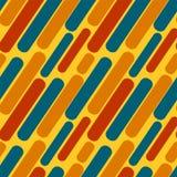 Ovals alaranjados azuis vermelhos em um fundo amarelo ilustração stock