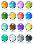 Ovals brilhantes lustrosos do cromo em várias cores Fotos de Stock Royalty Free