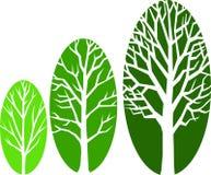 Ovals do crescimento da árvore/eps ilustração stock