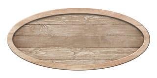 Ovalt bräde som göras av naturligt trä och med den ljusa ramen royaltyfria foton
