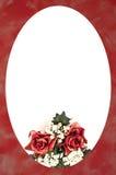 Ovalt klassiskt kort för röd jul Arkivbilder
