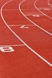 ovalt running spår Arkivfoton