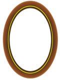 ovalt trä för ram Royaltyfria Bilder