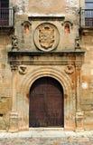 Ovando pałac średniowieczny miasto Caceres, Extremadura, Hiszpania Zdjęcia Stock