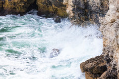 ovanför aegean för oia för öar för klippacyclades greece ö sikt för hav santorini Arkivbilder