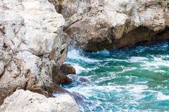 ovanför aegean för oia för öar för klippacyclades greece ö sikt för hav santorini Royaltyfri Foto