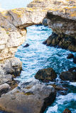 ovanför aegean för oia för öar för klippacyclades greece ö sikt för hav santorini Royaltyfri Bild