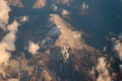 ovanför alps Royaltyfri Bild