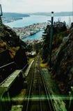 Ovanför Bergen Arkivbild