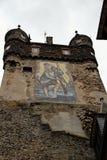 ovanför byggnadsslottcochem fortsätt den lokaliserade Europa germany gotiska kullen moselle som den neo utstående floden syns sil Fotografering för Bildbyråer