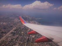 ovanför chicago Arkivfoton