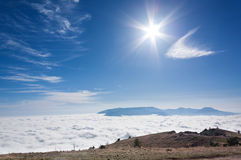 Ovanför clouds10en royaltyfri foto