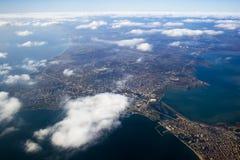 ovanför den stadsistanbul sikten Arkivfoton