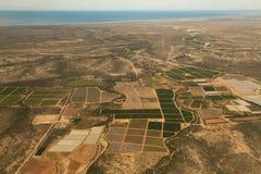 Ovanför fälten av Baja California Royaltyfria Bilder