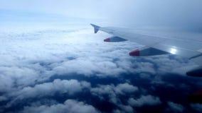 ovanför fönster för sikt för hav för flygplanflugaland stock video