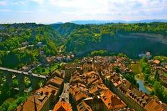 Ovanför Fribourg Royaltyfri Foto