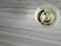 ovanför glass wine Royaltyfri Foto