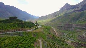 Ovanför härligt landskap och berget på Gran Canaria stock video