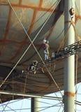 ovanför högt fungera för welders Royaltyfri Fotografi