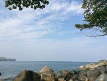 ovanför havskustsikt Royaltyfri Bild