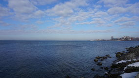 ovanför havskustsikt vladivostok Arkivfoton