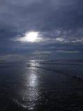 ovanför havsoluppgång Fotografering för Bildbyråer