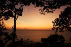 ovanför havssoluppgång Royaltyfri Foto