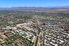 Ovanför i stadens centrum Scottsdale Arizona Fotografering för Bildbyråer